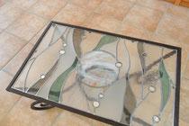 Table basse vitrail -Art du Vitrail