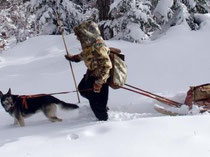 Florent Rivère et le chien Woopa