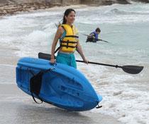 Carrying lifetime kayak
