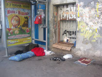Übernachtungslager Moskau