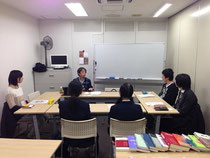 3日目は静岡校。生徒は中学生~高校生。