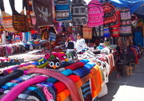 Market at the Plaza de Ponchos