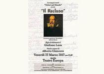 """""""Il Recluso"""" vita di Galileo Galilei"""
