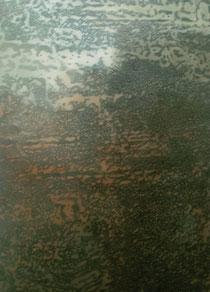 liquid landscape I 2003  Kunstharz, Steinmehl, Ölfarbe auf Leinwand  180 x 130 cm
