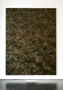 Wegmarken X   2009    Kunstharz, Acrylfarbe, Ölfarbe auf Leinwand   210 x 160 cm