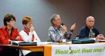 Annick Moinet, Marie Paule Leclerc, Joël Vazeux et Michel Zémo