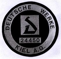 Die 1943 eingeführte Plakette der DWK