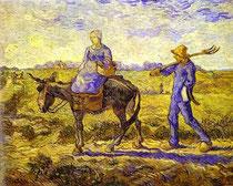 VINCENT VAN GOGH - Mattino. Partenza per il lavoro 1890