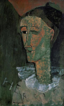AMEDEO MODIGLIANI - Pierrot - Autoritratto