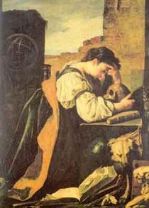 DOMENICO FETTI - Allegoria della malinconia (1621)