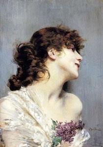 GIOVANNI BOLDINI - Ritratto di giovane donna