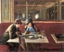 JEAN BERAUD - Au café