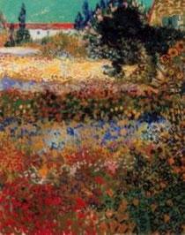 Vincent Van Gogh - Giardino con fiori 1888