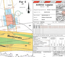 Musterlageplan des Bundes der Öffentlich Bestellten Vermessungsingenieure (BdVI)