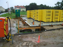 Bodenplatte bereit zur Kontrolle
