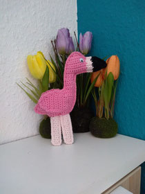 Flamingo gehäkelt, #Amazon Daniela Reinbacher, #Crazypattern, #MyBoshi.net, Ragdoll häkeln