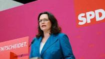 Begrüßt die konsequente Einbindung der SPD-Mitglieder: Andrea Nahles in Berlin