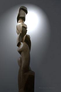 gunnar mozer, verwicklungen, holzskulptur, eiche, Kreiskrankenhaus buchen