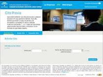 """Haz """"clic"""" en esta imagen para tramitar Online la """"Cita Previa para cualquier Estación ITV de Andalucía""""."""