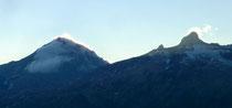 brennendes Balmhorn von der Bietschhornhütte aus gesehen