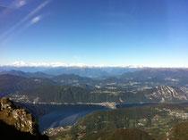 Aussicht vom Monte Generoso Richtung Schweizer Alpen