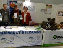 Benjamin Paehlke, Sigrid Alexander, Sabine Schmidt-Halewicz auf den Naturschutztagen 2014