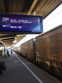 Im Frankenland gibt es sogar für Transportzüge Stationsanzeiger!