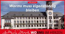 Wormser Ratshaus als Symbol für die Unabhängigkeit der Stadt.