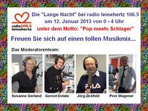 """Die """"Lange Nacht"""" bei radio leinehertz 106.5"""