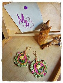Tribute to Gustav Klimt - Yellow Hearts earrings  - 15,00 Euro