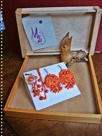 Orange Flowers and Pearls  parure - 15,00  Euro