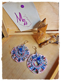 Tribute to Alphonse Mucha 1 earrings - 15,00 Euro