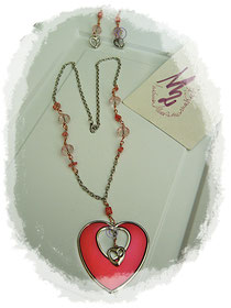 PurpleMetal Heart  parure - 20,00 Euro