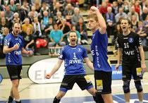 Die RWE Volleys wollen auch am Sonntag wieder jubeln.