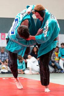 Danny Meeuwsen -100kg und Stefan Urselmann -90kg beim Übungskampf