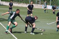 Tristan Nebgen (grünes Trikot) im Turnierspiel gegen Argo Berlin