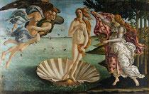 Boticelli: Geburt der Venus (Aphrodite), Quelle: Wikipedia
