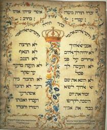 Die 10 Gebote in hebräischer Schrift (Wikipedia)