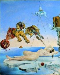 Ein Bild des spanischen Surrealisten S. Dali