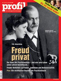 profil-Titelbild: Der Begründer der Tiefenpsychologie, Sigmund Freud, und seine Tochter Anna Freud, die selbst eine wichtige Psychoanalytikerin war