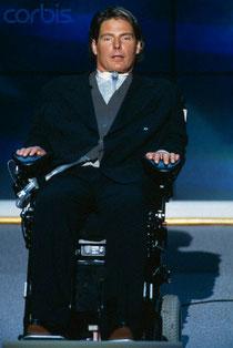 Christopher Reeve nach seinem Reitunfall