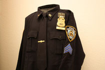 NYPD Sgt. Hemd Langarm
