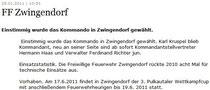 NÖN-Artikel - FF Zwingendorf