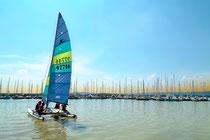 Catamaran sur le Lac de Madine - Meuse - Lorraine