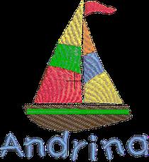 Segelschiff mit Namen