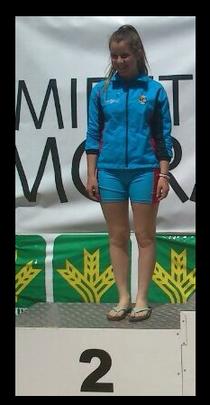 María Fenández en el podio del Campeonato de España Infantil. Foto. C.P.Fresno de la Ribera