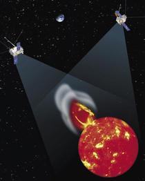 Überdeckung der Sichten der beiden Raumsonden und damit erzielter 3D-Effekt (wikipedia, NASA)