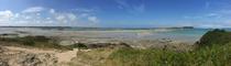 Vue sur l'archipel des Ebihens à marrée basse