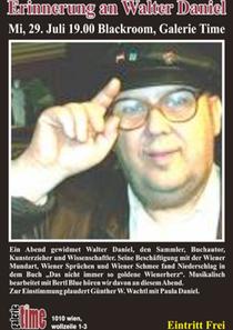 galerie time Lesung mit Musik in Erinnerung an Walter Daniel