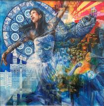 新世紀美術展 入選作品 「生命のダンス」